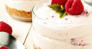 Raspberry-Lemon-No-Bake-Cheesecake