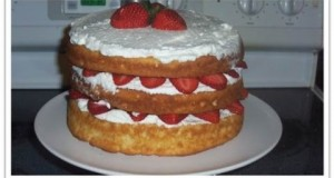 English North Country Strawberries and Cream Courting Cake
