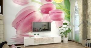 Free-shipping-light-pink-font-b-tulip-b-font-design-3d-font-b-wallpaper-b-font