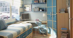 geschwungenen-Stil-Gehäuse-Design-mit-blauen-Computer-Stuhl-Leistung-kreative-Eckregale-für-kleine-Schlafzimmer-und-wunderbare-B